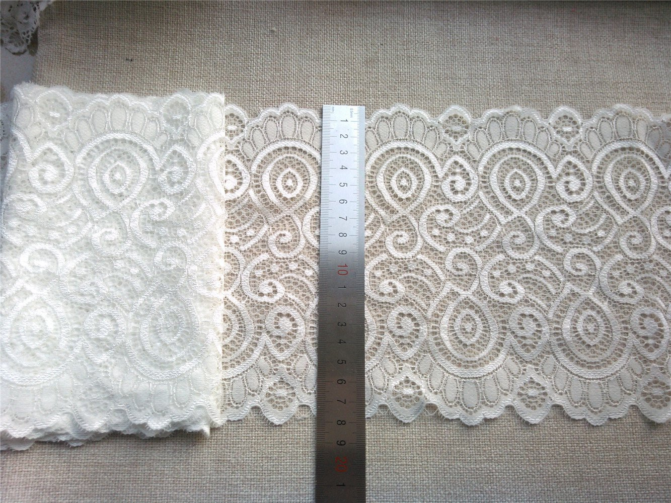 Stretch lace trim,5yards white lace,garter lace trimming-LSY009