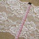 Stretch lace trim,5yards white lace,garter lace trimming-LSY017