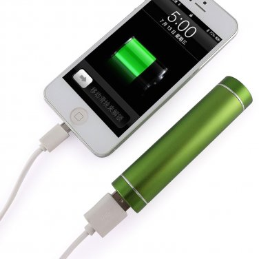 Light Green Portable USB Cell Phone Charger Power Bank iPhone Samsung PSP HTC