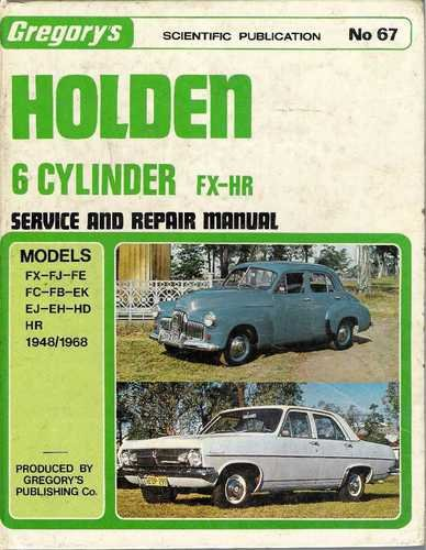 Holden FX-HR Service & Repair Manual -Hardcover