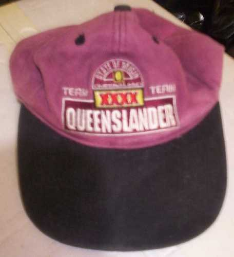 XXXX QUEENSLANDERS CAP - maroon - good used cond