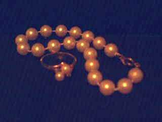 Imitation PEARL Bracelet & Ring Set.