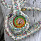 Hip Hop Style Hippie Bling Hand Knotted Rasta Glass Marble Rainbow Hemp Necklace - Nixplicit 026M