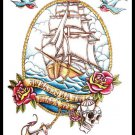 Sailor Tattoo Large sexy Waterproof Colorful Temporary Tattoo Body Arm Art Sticker Removable
