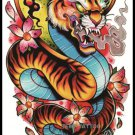 Snake Tattoo Large sexy Waterproof Colorful Temporary Tattoo Body Arm Art Sticker Removable