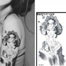 Tattoo Woman Waterproof Removable Temporary Tattoo Body Arm Art Sticker