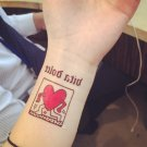 Big Bang Running Heart Sexy Waterproof Removable Temporary Tattoo Body Arm Art Sticker