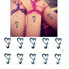 Hearts Waterproof Removable Temporary Tattoo Body Arm Art Sticker