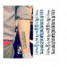 Sanskrit Text Waterproof Removable Temporary Tattoo Body Arm Art Sticker