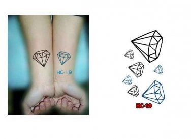 Diamond Waterproof Removable Temporary Tattoo Body Arm Art Sticker