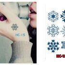 Snow Flakes Waterproof Removable Temporary Tattoo Body Arm Art Sticker