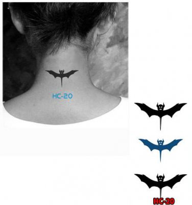 Bat Batman Waterproof Removable Temporary Tattoo Body Arm Art Sticker