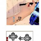 CROSS 2 Waterproof Removable Temporary Tattoo Body Arm Art Sticker