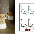 PINE Waterproof Removable Temporary Tattoo Body Arm Art Sticker