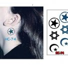 STAR MOON Waterproof Removable Temporary Tattoo Body Arm Art Sticker