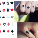 POKER CROWN DAVID STAR ALL CUTE STUFF Waterproof Removable Temporary Tattoo Body Arm Art Sticker