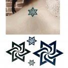 DAVID STAR 4 Waterproof Removable Temporary Tattoo Body Arm Art Sticker