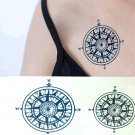 Compass Removable Temporary Tattoo Body Arm Art Sticker