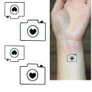 Camera Temporary Tattoo Body Arm Art Sticker