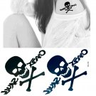 Skull 3 Temporary Tattoo Body Arm Art Sticker