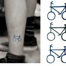 Bicycle Sexy Temporary Tattoo Body Arm Art Sticker