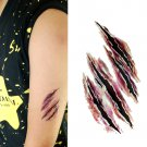 Halloween Special Effects Zombie Scratch Sexy Temporary Tattoo Body Arm Art Sticker