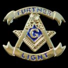 Further Light Square & Compasses Masonic Lapel Pin
