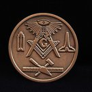 Blue Lodge Freemason Masonic Copper Coin