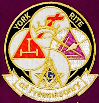 York Rite Of Freemasonry Knights Templar Masonic Freemason Patch