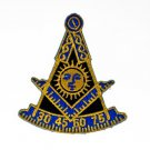 Past Master AF&AM With Square Masonic Freemason Patch