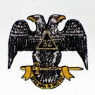 32nd Degree Scottish Rite Masonic Freemason Patch