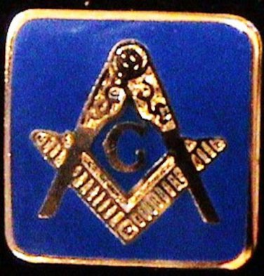 Blue Lodge Square & Compasses With Border Flat Masonic Freemason