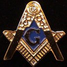 Blue Lodge Square & Compasses Flat Masonic Freemason 1""