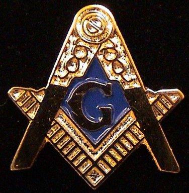 "Blue Lodge Square & Compasses Flat Masonic Freemason 3/4"""