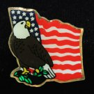U.S. United States American Eagle Flag Patriotic Lapel Pin
