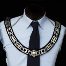 Blue Lodge Silver Masonic Freemason Officers Collar (For All Offices!)