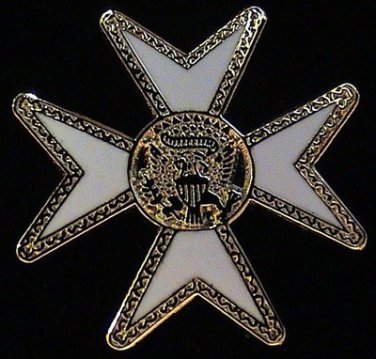 York Rite Maltese Malta Cross Masonic Freemason Lapel Pin