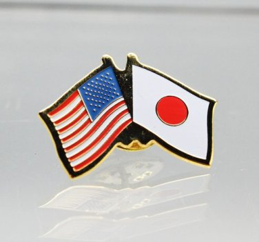 United States Japan Friendship Flag Lapel Pin