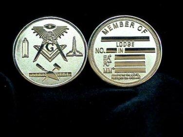 Blue Lodge MasonicFreemason Gold Coin