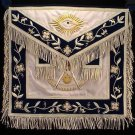 Stock Past Master Freemason Masonic Apron Silver