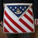 U.S. American Flag Freemason Masonic F&AM Past Master Apron
