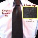York Rite Knights Templar Crown Black Freemason Masonic Tie