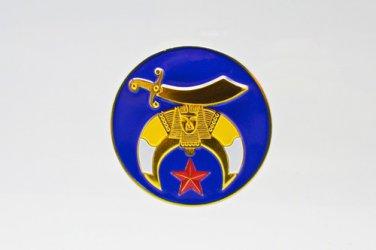 Shriners Masonic Freemason Blue Car Bumper Sticker