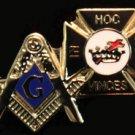 Square & Compasses Knights Templar Masonic Lapel Pin