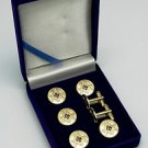Blue Lodge Square & Compasses Masonic Button Cover Set
