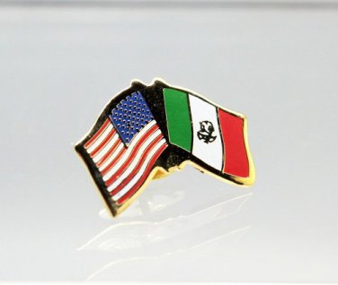United States Mexico Friendship Flag Lapel Pin