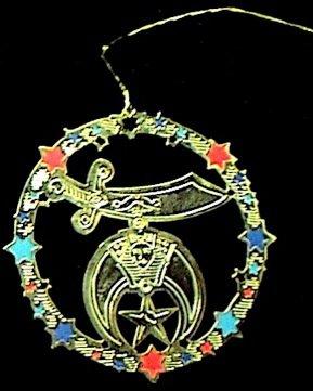 Shriners Masonic Freemason Christmas Tree Ornament