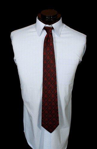 York Rite Royal Arch Red On Black Freemason Masonic Silk Tie