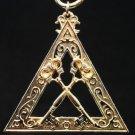 York Rite Royal Arch Treasurer Officers Collar Jewel