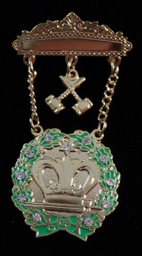 Amaranth 11 Stones & Gavels Jewel Freemason Masonic